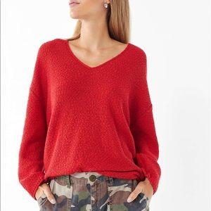 Reversible V-neck Sweater